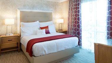 Margaritaville Resort Casino Luxury hotel suite king bedroom