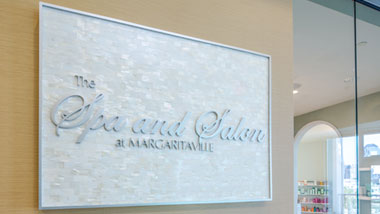 The Spa & Salon at Margaritaville spa sign