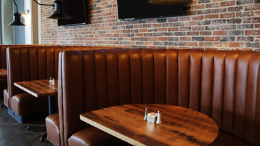 Booth Seating at Riverview Restaurant & Brewhouse